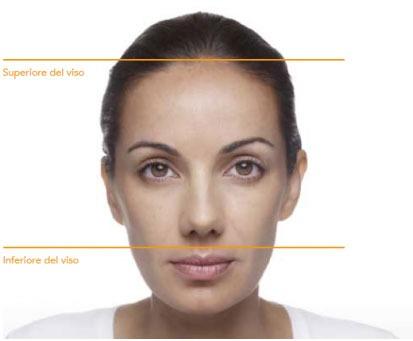 Area superiore del viso